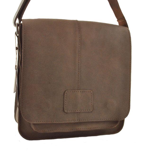 Мужская кожаная сумка 4229 коричневая