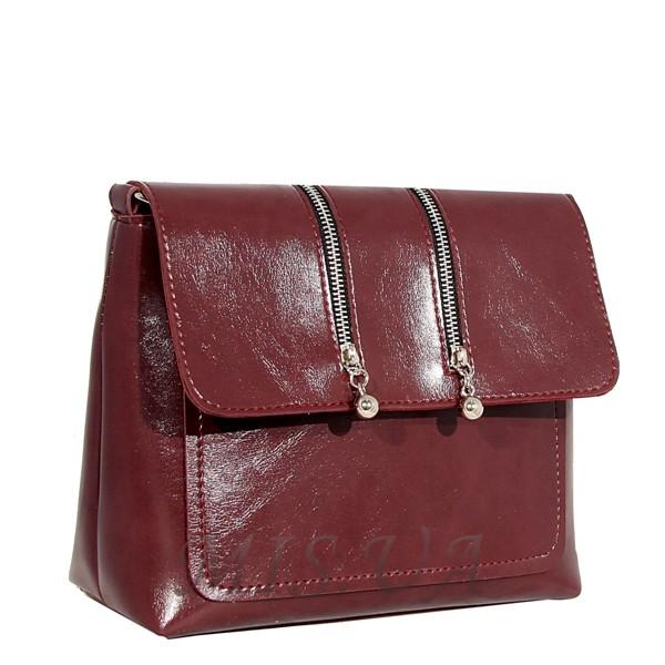 Женская сумка МІС 35810 бордовая