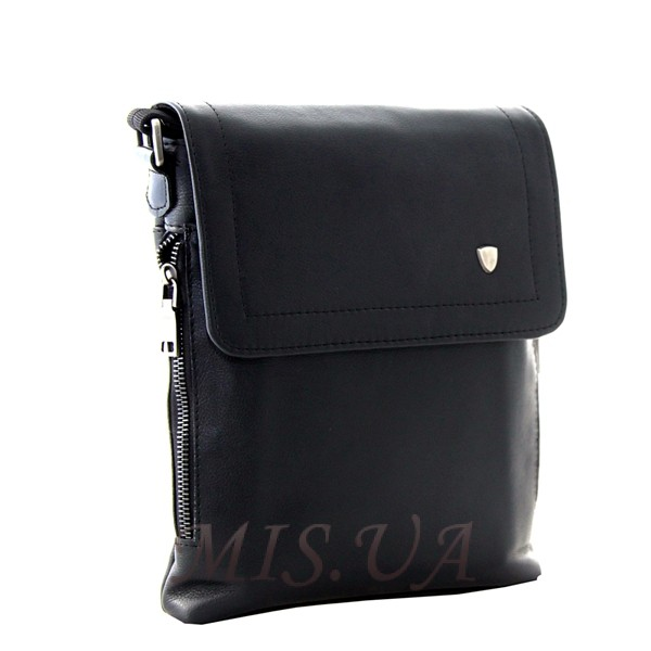 Мужская кожаная сумка Vesson  4126 черная