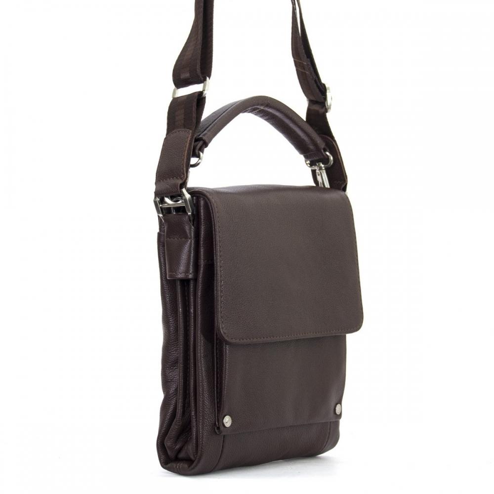 Мужская кожаная сумка 4461 черная