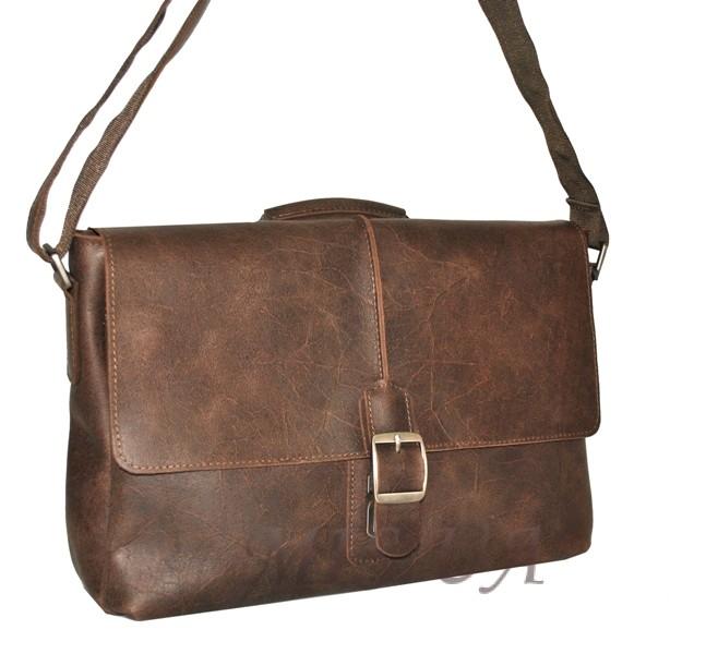 Мужской кожаный портфель 4381 коричневый