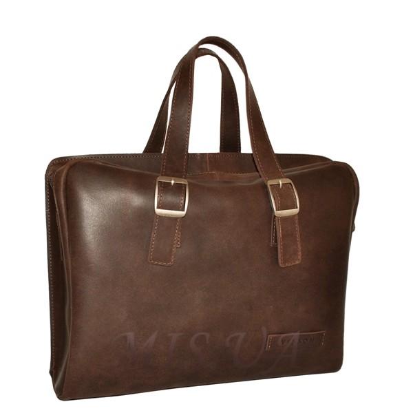 Мужской кожаный портфель 4393 коричневый