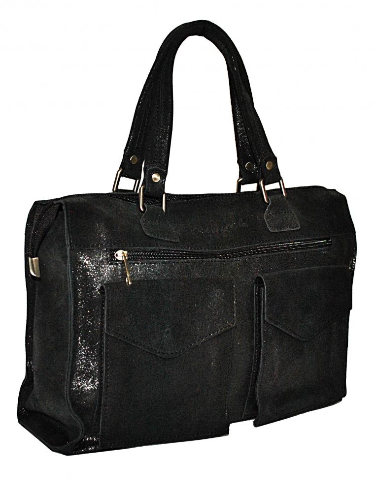 Мужской кожаный портфель 4267 черный