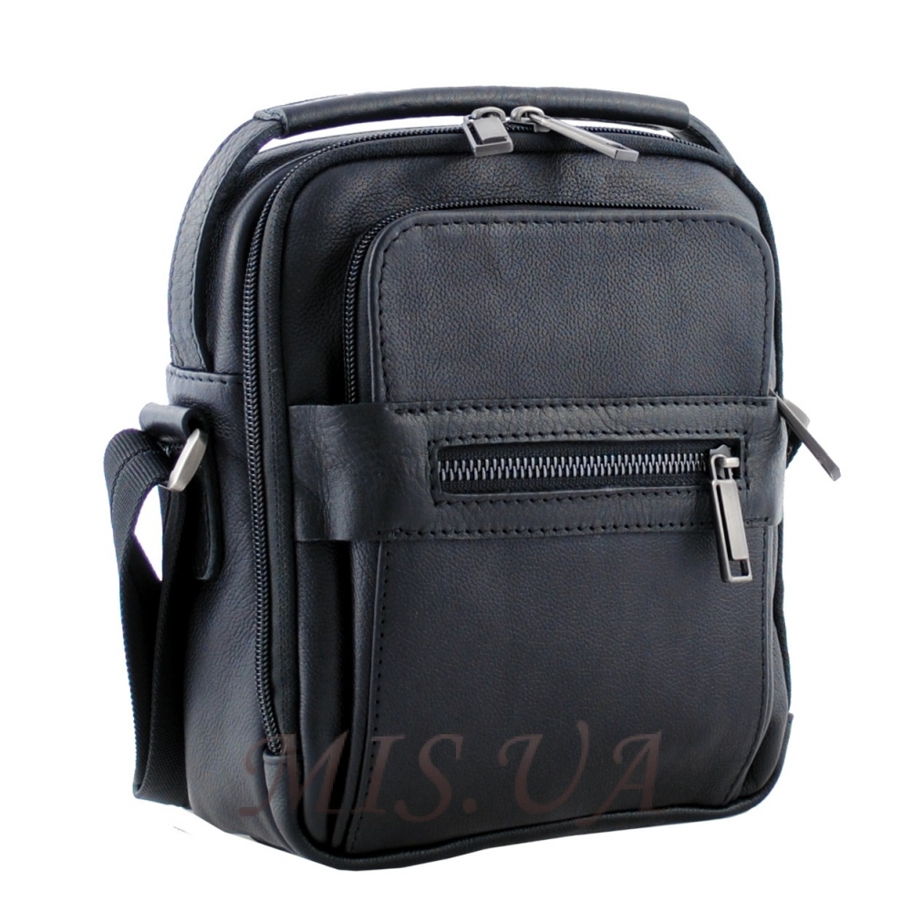 Мужская кожаная сумка Vesson  4550 черная