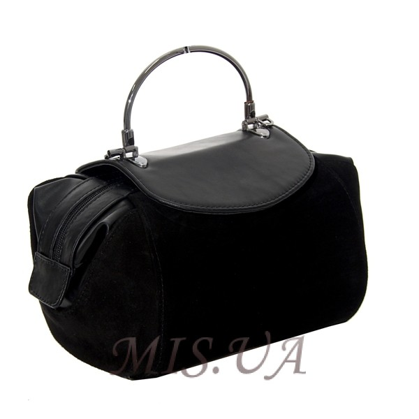Женская замшевая сумка MIC 0701 черная