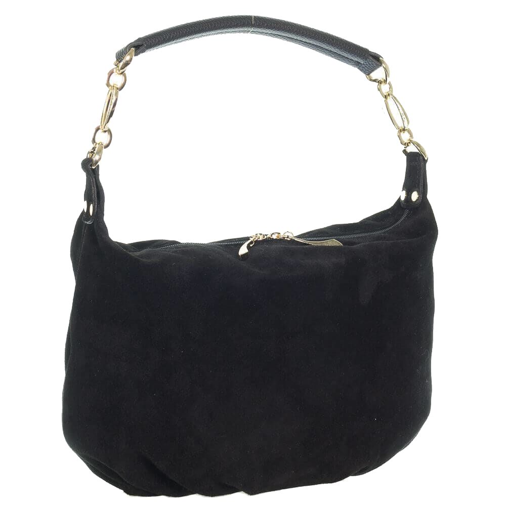 f810d438755a Купить замшевую черную женскую сумку 0653 c доставкой по Украине ...