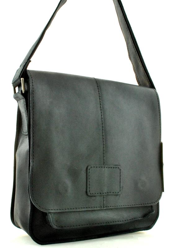 Мужская кожаная сумка 4229 черная