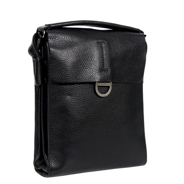 Мужская кожаная сумка Vesson 4621 черная