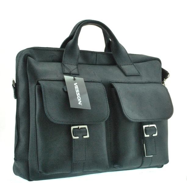 Мужской кожаный портфель 4297 черный