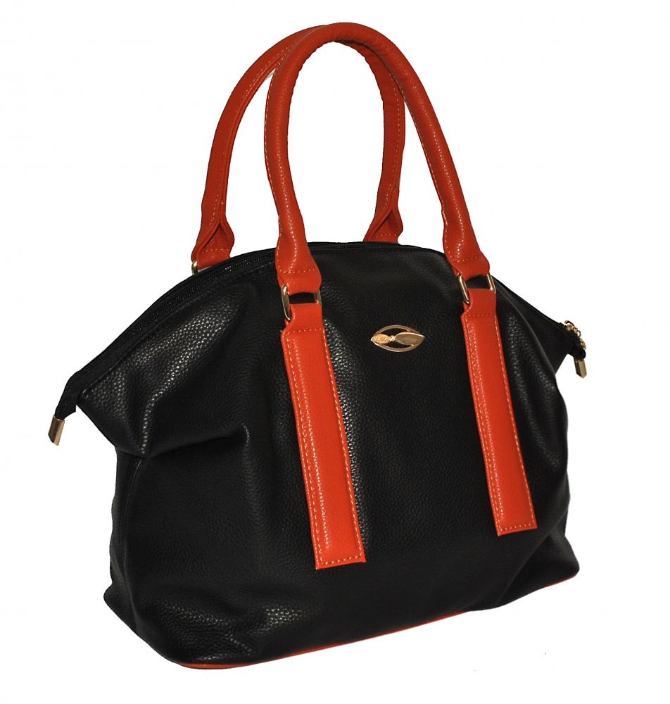 0dd3f6280fa2 Купить черную с коричневым женскую сумку 35335 c доставкой по ...