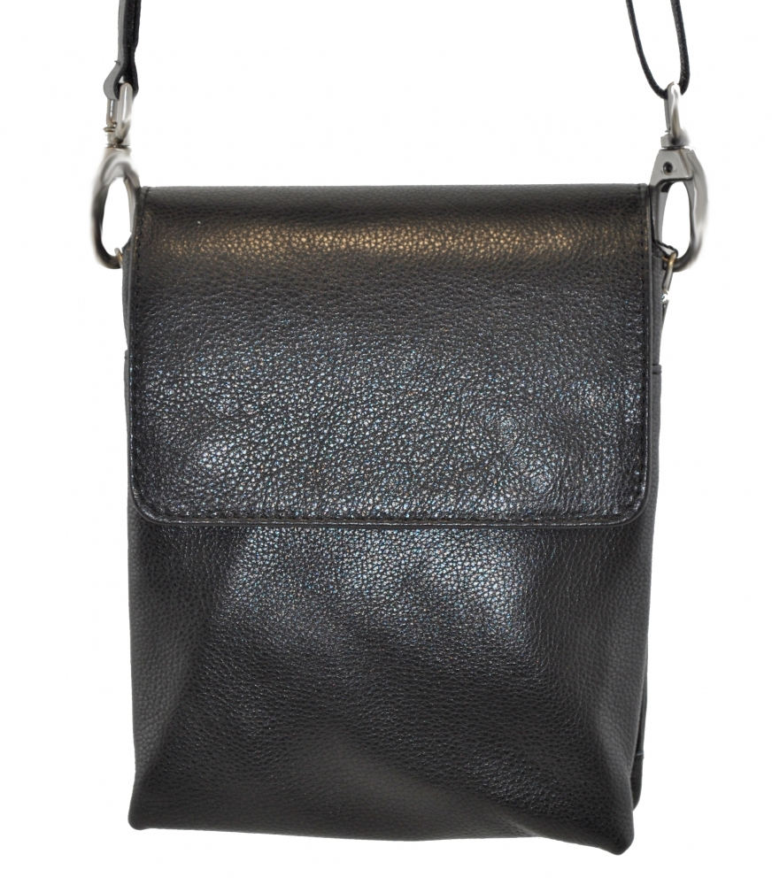 Мужская сумка из натуральной кожи Vesson 4260 черная