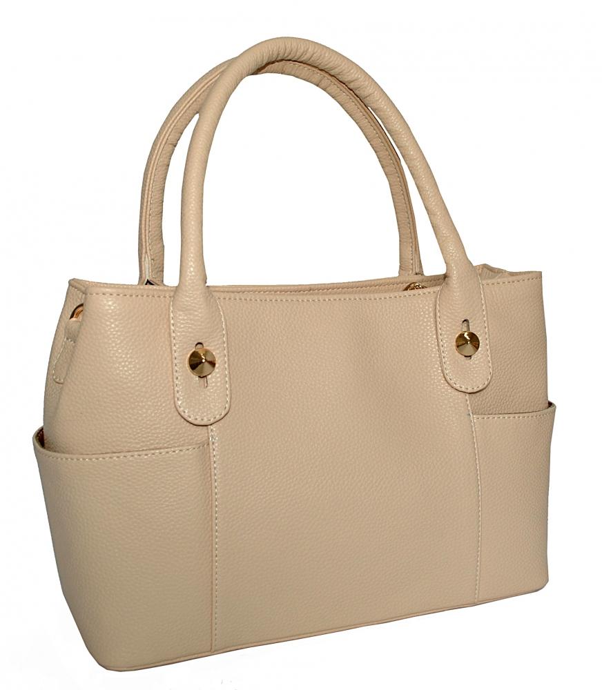 Женская сумка 35463 - с  бежевая