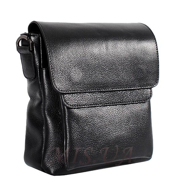Мужская кожаная сумка Vesson  4564 черная