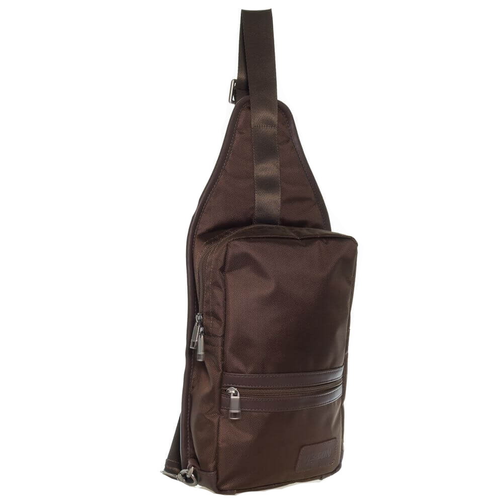 Мужской моно рюкзак 34233 коричневый