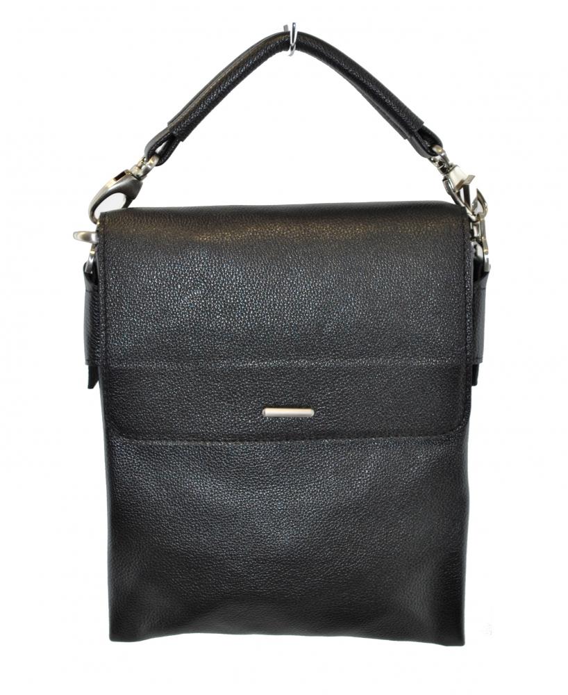 Мужская сумка из натуральной кожи Vesson 4212 черная