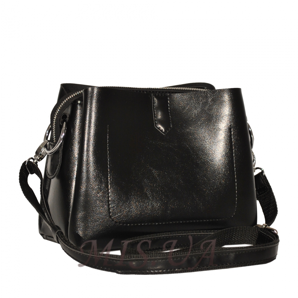 45cae7a13fbf Купить женскую сумку черным цветом 35523 c доставкой по Украине ...