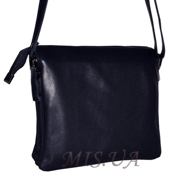 Женская кожаная сумка 2486 темно-синяя