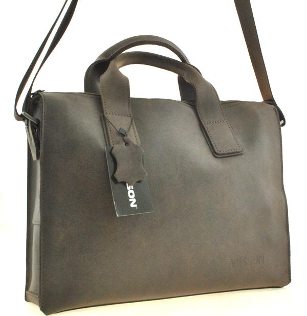 Мужской кожаный портфель 4241 коричневый