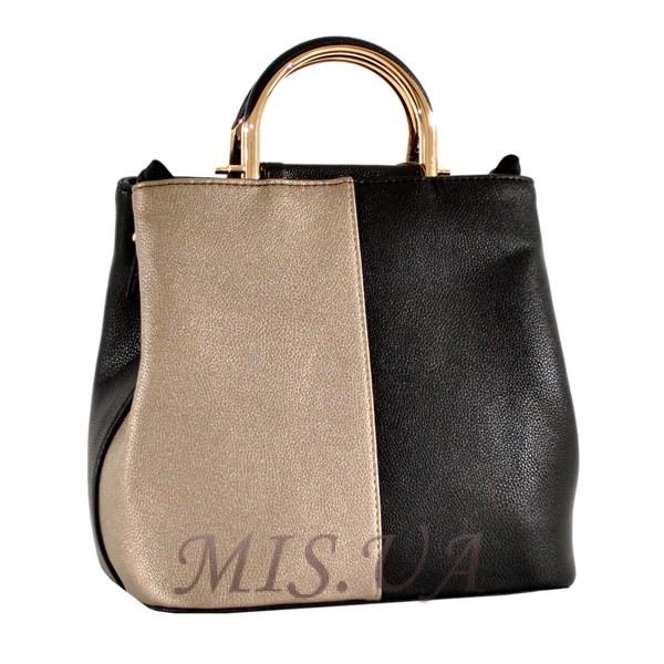 Женская сумка 35596-1 черная-комбинированая