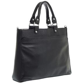 Жіноча комбінована ділова сумка 102 чорна