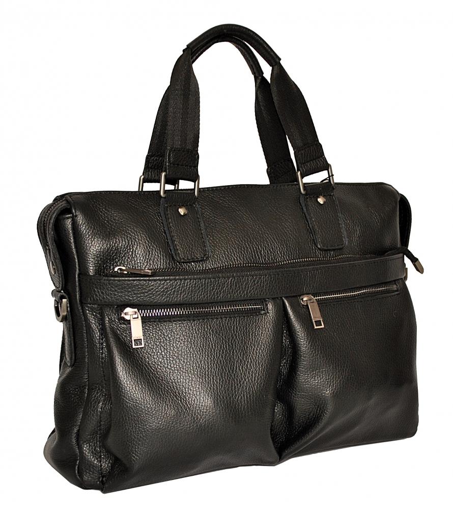 Мужской кожаный портфель 4369 черный
