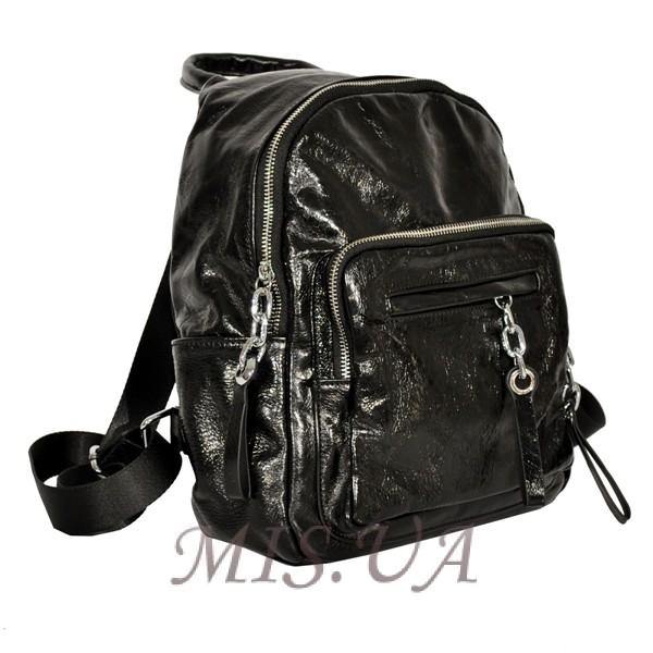 Женский кожаный рюкзак 381996 черный