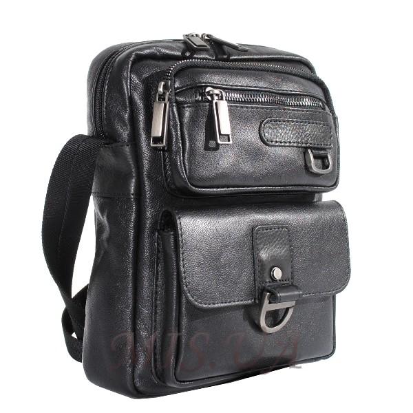 Мужская кожаная сумка Vesson  4553 черная