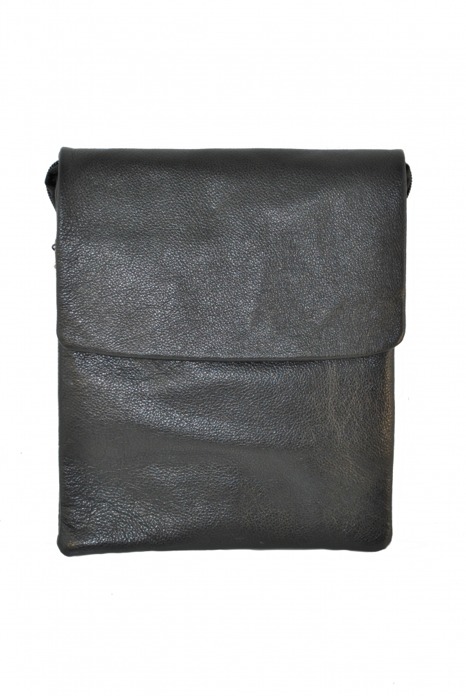 Мужская кожаная сумка Vesson 4117 черная