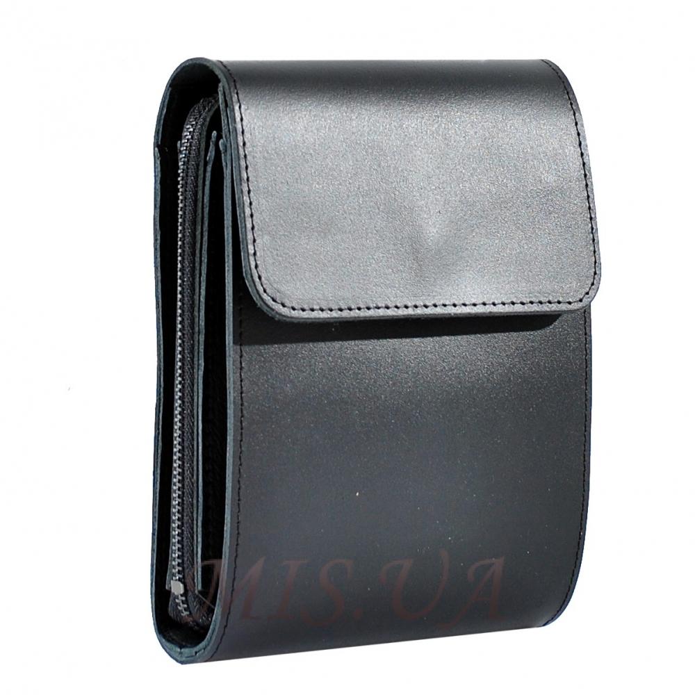 Men's leather bag 4556 is black