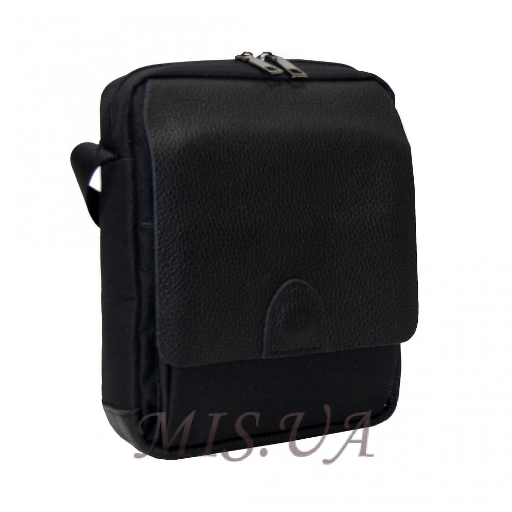Men's leather bag 0435 is black