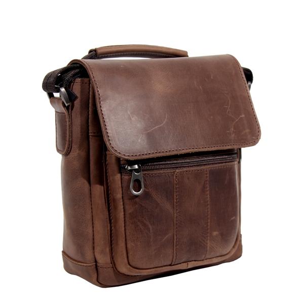 Мужская кожаная сумка Vesson 4639 коричневая