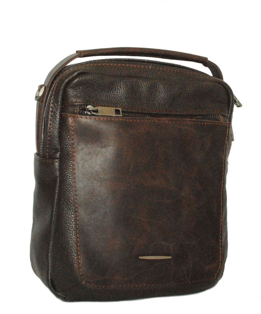 Мужская кожаная сумка 4348 коричневая