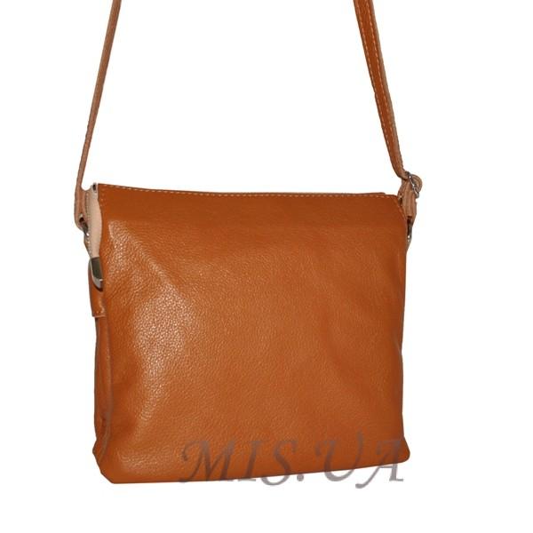 Женская кожаная сумка 2486 рыжая