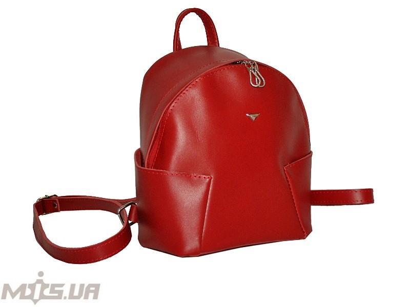 Шкіряний рюкзак 2517 червоний