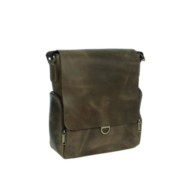 Мужская кожаная сумка Vesson 4623 коричневая