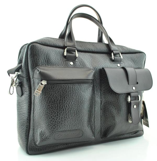 Мужской кожаный портфель 4295 черный