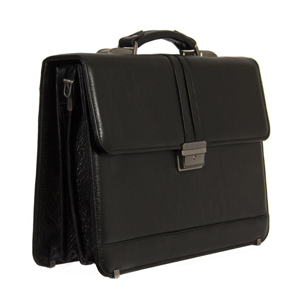 Мужской кожаный портфель 4468 черный
