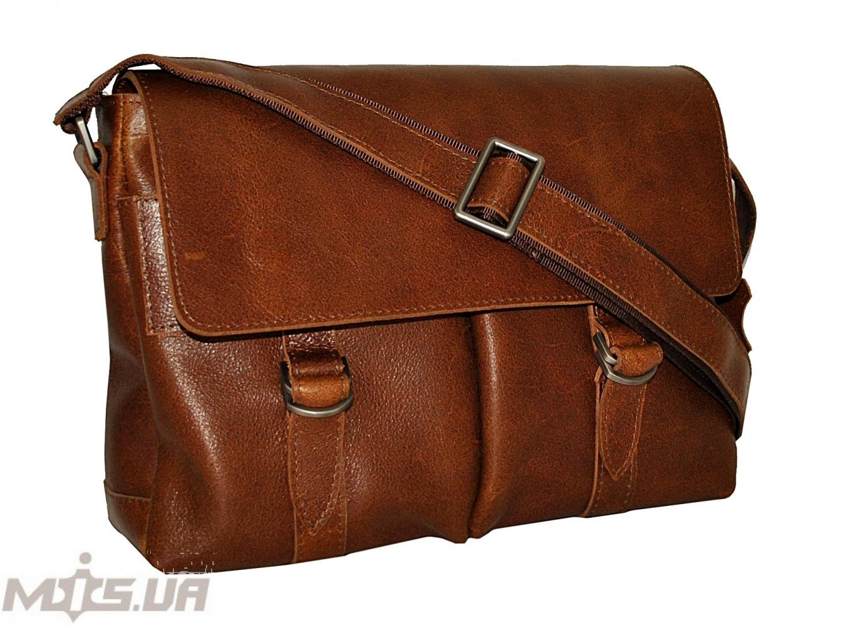 Мужской портфель 4226  рыжий матовой