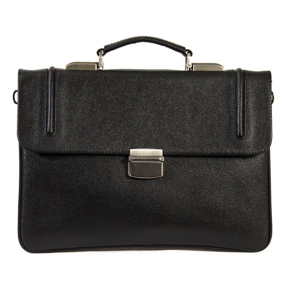 Мужской портфель из натуральной кожи Vesson 4485 черный