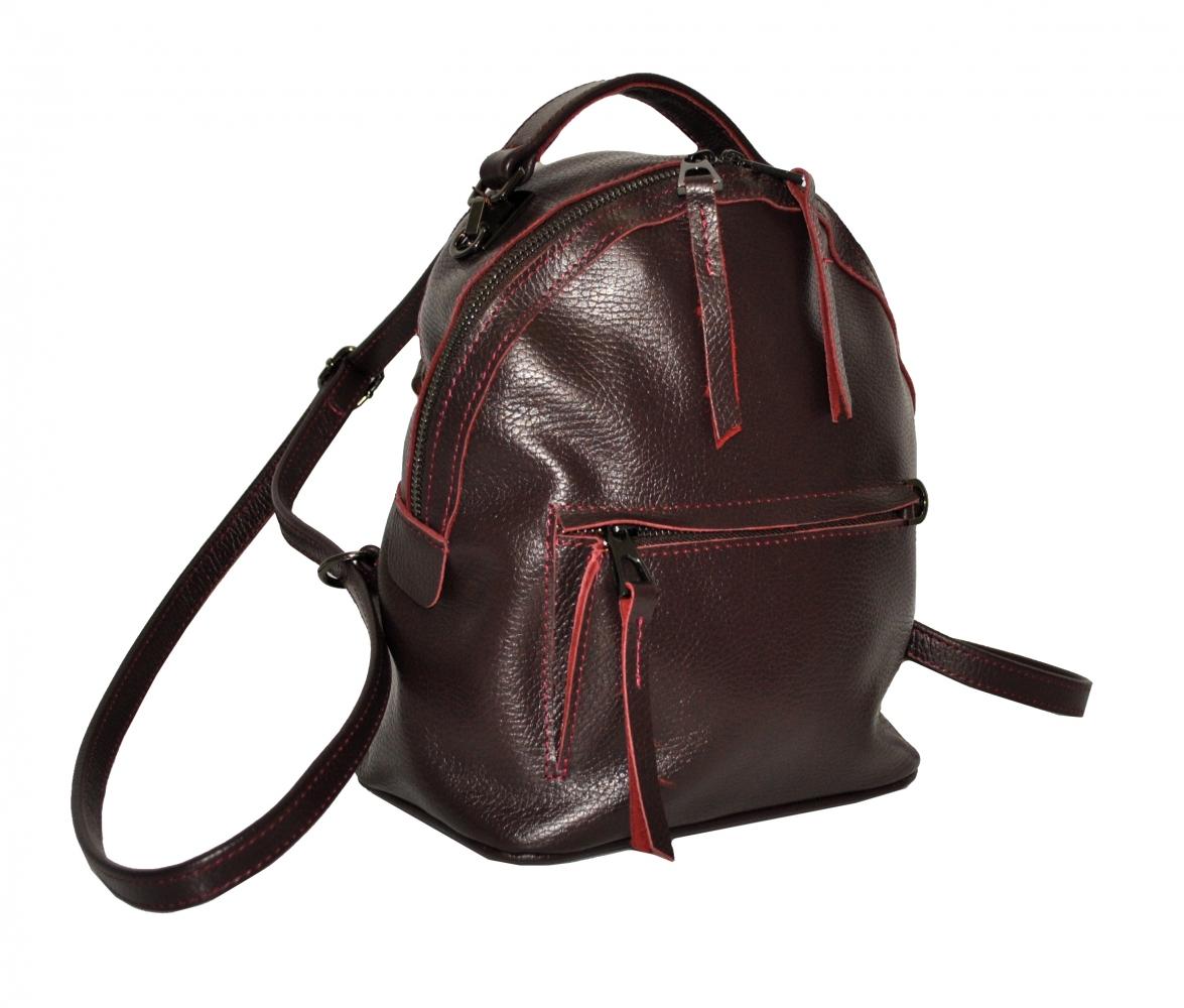 Жіночий рюкзак 2537 бордовий
