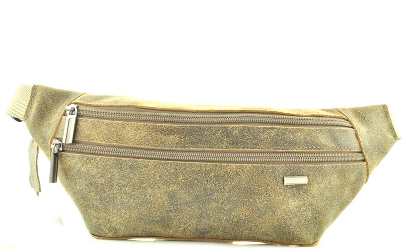 Мужская кожаная сумка 4275 хаки