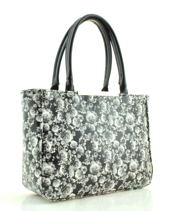 Женская сумка 35327-A  черно-белая