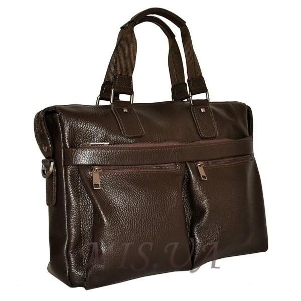 Мужской кожаный портфель 4369 коричневый