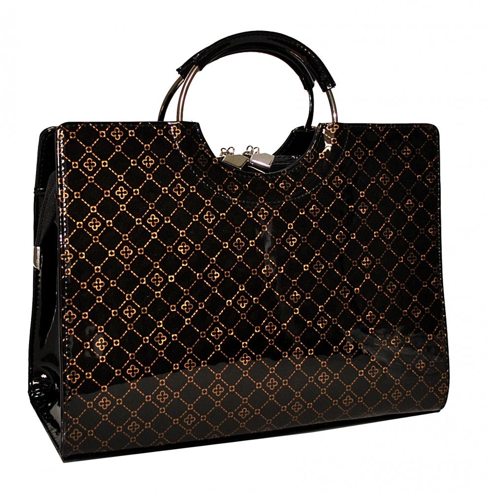 87422e61fa89f8 Купити чорну жіночу сумку з тисненням 35529 з доставкою по Україні ...