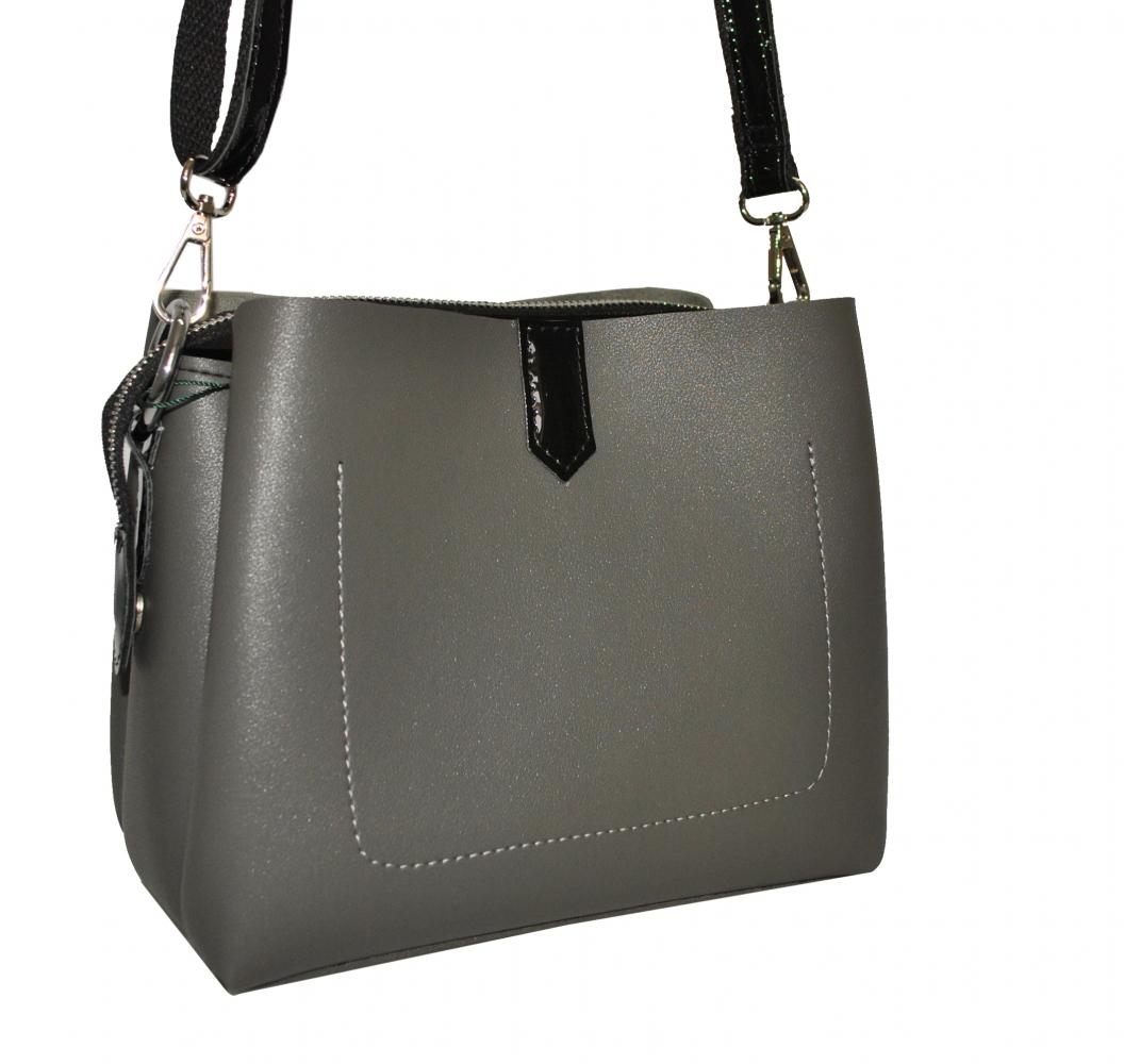 535e79d5dae3 Купить женскую сумку серым цветом 35523 c доставкой по Украине ...