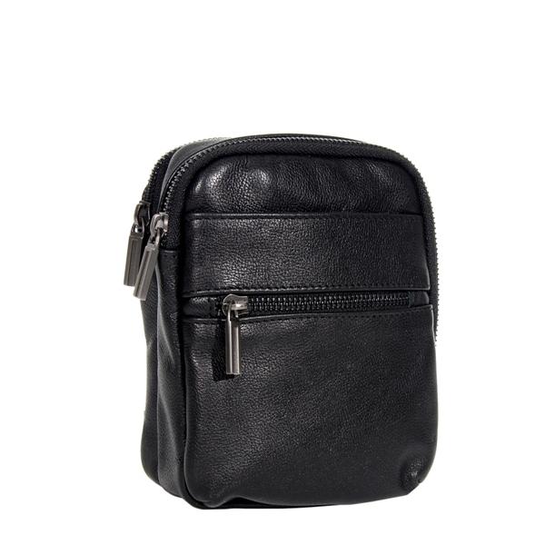 Мужская кожаная сумка Vesson 4586 черная
