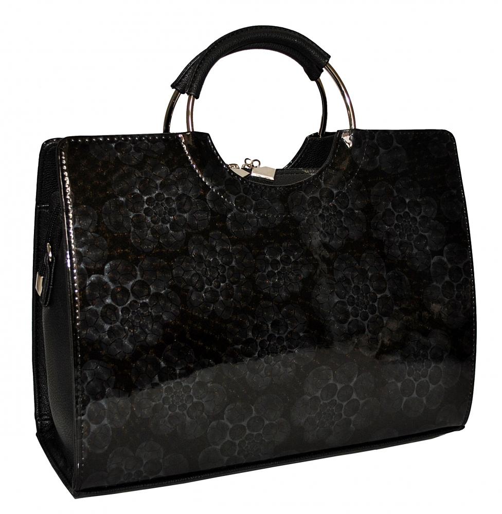 4af05adad82bcf Купити чорну жіночу сумку з сірим принтом 35529 з доставкою по ...
