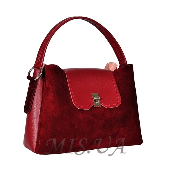 Женская замшевая сумка МIС 0703 бордовая