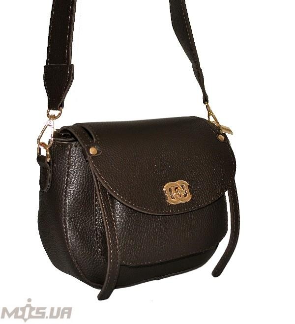 Женская сумка 35569 темно-коричнева