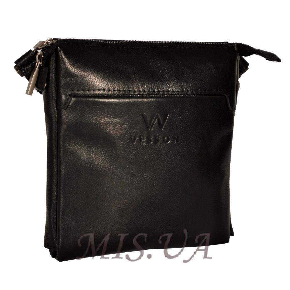 Мужская кожаная сумка 4513 черная
